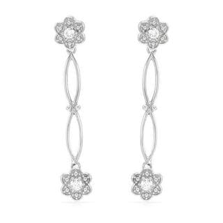 14k White Gold .33ct TDW Diamond Dangle Earrings (H-I, SI2-I1)