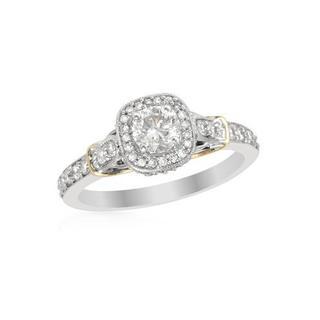 14K Two-tone Gold 0.94ct TDW Diamond Engagement Ring (G-H, I1-I2)
