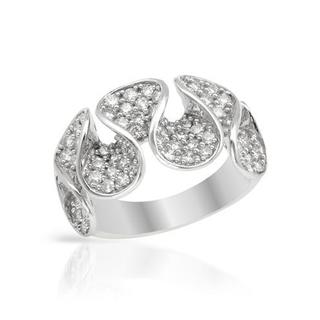 Ring with 1.10ct TW Diamonds in 18K White Gold