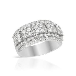 14K White Gold 1.84ct TDW Diamond Ring