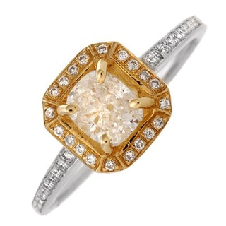 Splendid Ring with 1.05ct TW Diamonds in 14K Two-tone Gold