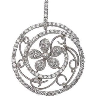Phenomenal Pendant with 1.70ct TW Genuine Diamonds in 14K White Gold