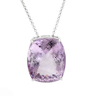 Necklace with 165.1ct TW Amethyst in .925 Sterling Silver