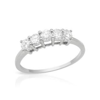 Ring with 0.69ct TW Genuine Diamonds in White Gold
