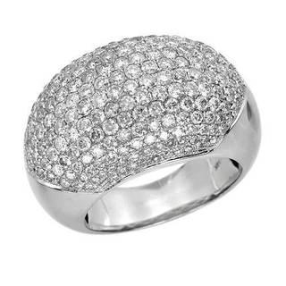 14K White Gold 3 1/2ct TW Diamond Fashion Multi-Row Ring Size 7
