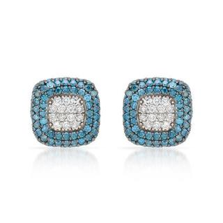 Earrings with 3.02ct TW Diamonds in 14K White Gold