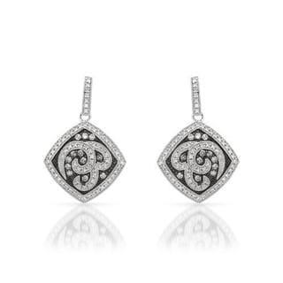 Sterling Silver 1ct TDW Diamond Earrings (G-H, I2)