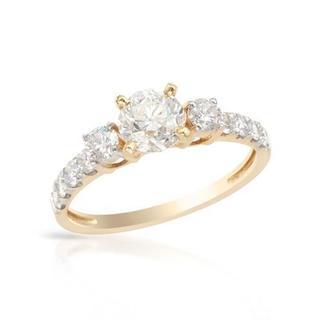 14K Yellow Gold 1 1/2ct TDW Diamond Engagement Ring