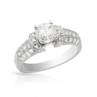 18K White Gold 1 1/3ct TDW Diamond Engagement Ring (I, I2)