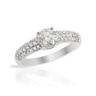 14k White Gold 1.03ct TDW Diamond Solitaire Plus Engagement Ring