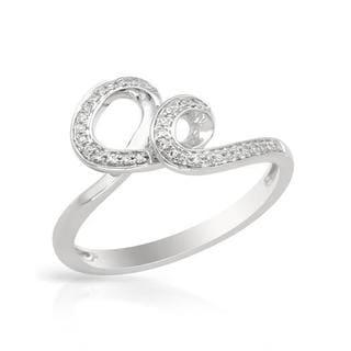 Vida Ring with Diamonds in White Gold