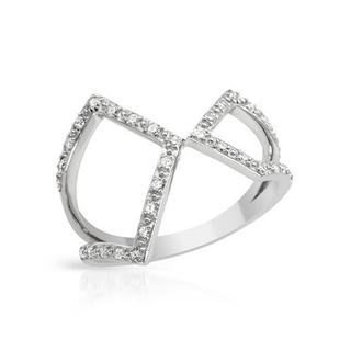Vida 10K White Gold 2/10ct TDW Diamond Ring