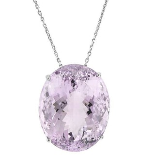 Necklace with 162ct TW Amethyst 925 Sterling Silver