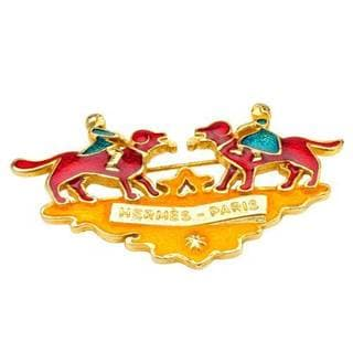 Pre-owned Hermes Goldplated Multicolor Enamel France Pin