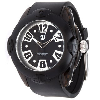 Tendence Men's Black Rubber Watch