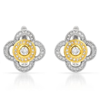 Earrings with 0.98ct TW Cubic Zirconia in 925 Sterling Silver