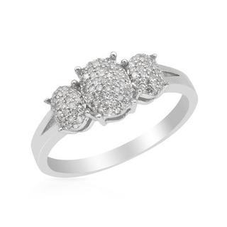 Ring with Genuine Diamonds White Gold