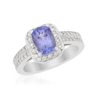 Ring with 2.19ct TW Diamonds and Tanzanite 14K White Gold