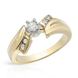 14k Yellow Gold Diamond Engagment Ring