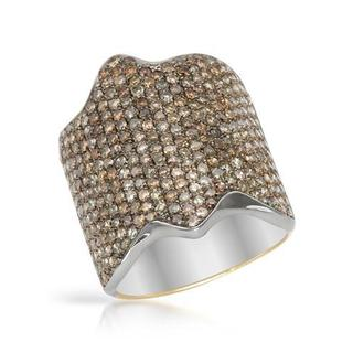 Ring with 2.68ct TW Diamonds 14K/.925 Sterling Silver with Gold Inlay