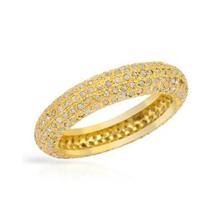 Gold-plated Silver 1.11ct TDW Diamond Wedding Band