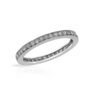 .925 Sterling Silver Diamond Wedding Band
