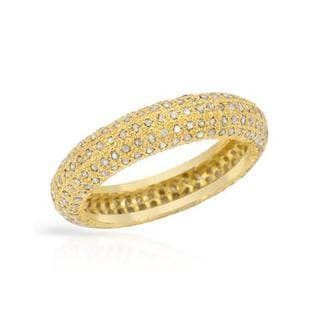 Gold-plated Silver 1.17ct TDW Diamond Wedding Band