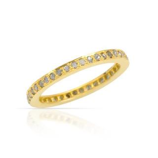 Gold-plated Silver 1.2ct TDW Diamond Wedding Band