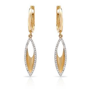 Vida Earrings with Genuine Diamonds in 14K Yellow Gold