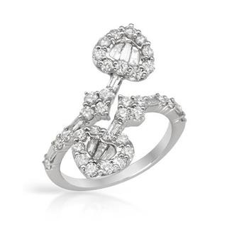 Heart Ring with 1.65ct TW Diamonds 18K White Gold