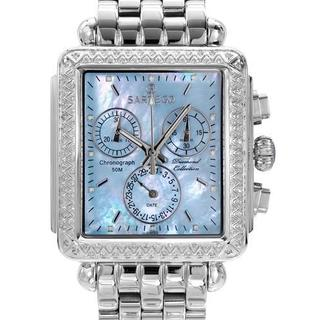 Sartego Women's 3SDBP397S Silver Stainless Steel Chronograph Watch