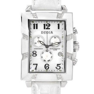 Women's DE1201M White Leather Chronograph Watch