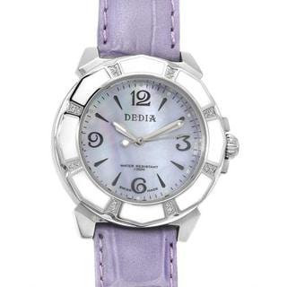 Women's 6201LL012 Purple Leather Watch
