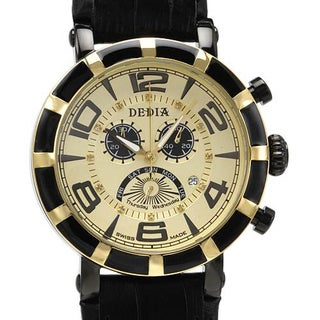 Men's DE1260XG Black Rubber Chronograph Watch