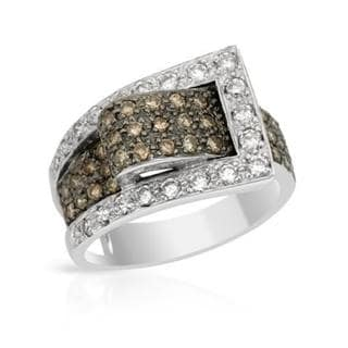 Ring with 1.01ct TW Diamonds in 18K White Gold