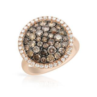 Ring with 2.16ct TW Natural Fancy Brown Diamonds in 14K Rose Gold