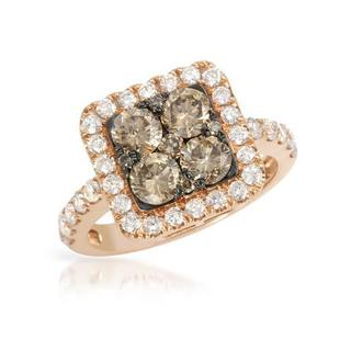Ring with 2.34ct TW Diamonds of 14K Rose Gold