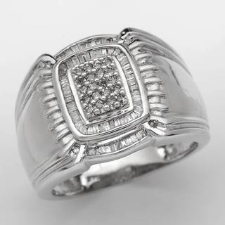 Men's Ring with 0 1/2ct TW Diamonds in 14K White Gold