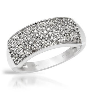 Ring with 0.51ct TW Diamonds Crafted in .925 Sterling Silver