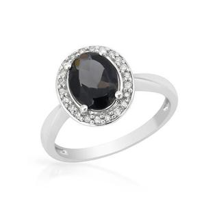 Ring with 1.49ct TW Diamonds and Iolite in 14K White Gold
