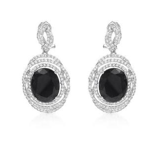 Earrings with 21.6ct TW Sapphires and Topazes in .925 Sterling Silver