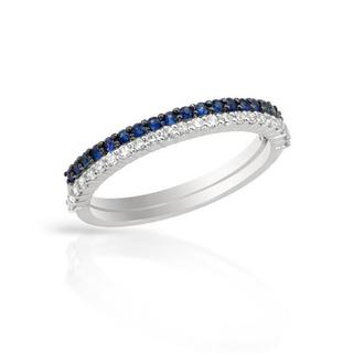 Vida Ring with Diamonds/ Sapphires in White Gold