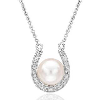 Vida Necklace with Diamonds/ 65mmFreshwater Pearl in 14K White Gold