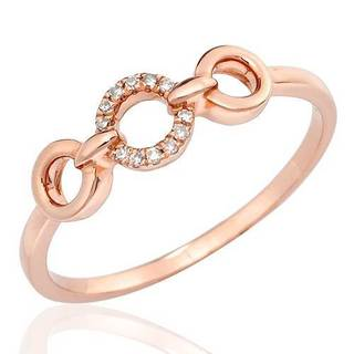 Vida Ring with Diamonds in 14K Rose Gold