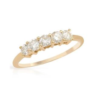 Yellow Gold 0.59ct TDW Diamond Wedding Band