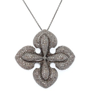 .925 Sterling Silver Necklace with 5.45ct TW Diamonds