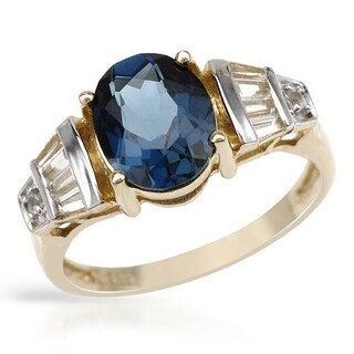14k Gold-plated Silver 3.51 TGW Topaz Ring