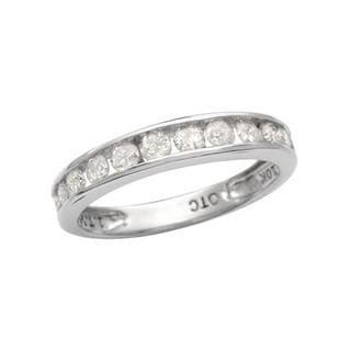 White Gold 1ct TDW Diamond Wedding Band