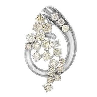14K White Gold 5 1/6ct TDW Diamonds Spiral Pendant