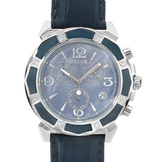 Women's 6201MR7 Blue Leather Chronograph Watch